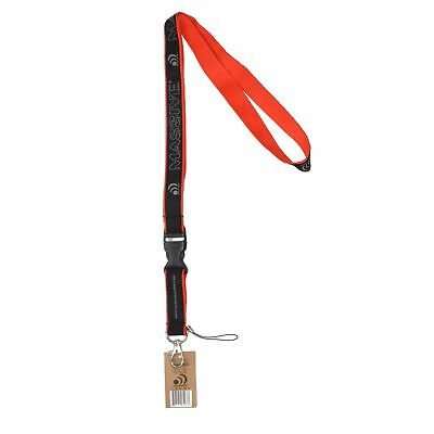 Massive Audio Lanyard Key Chain Holder (Red & Black)