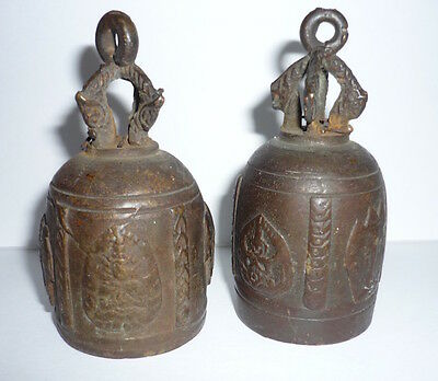 Pair Antique Buddhist Bells