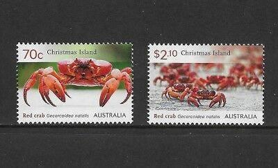 CHRISTMAS ISLAND 2014 Red Crabs, mint set of 2, MNH MUH