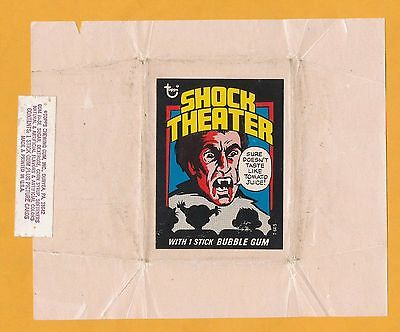 Test Issue Wrapper Shock Theater Theatre Dracula 1975 Topps Hammer Horror Film A