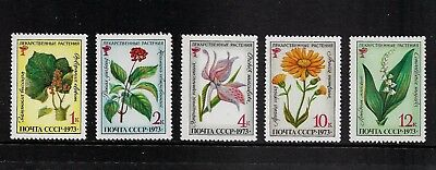 RUSSIA 1973 Medicinal Plants, mint set of 5, MNH MUH