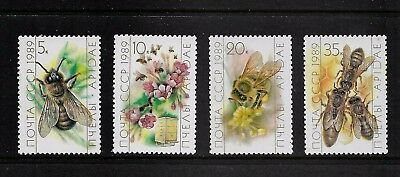 RUSSIA 1989 Honey Bees, mint set of 4, MNH MUH