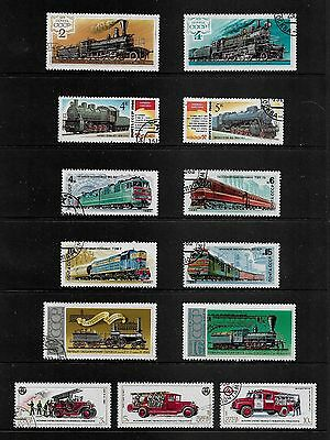 RUSSIA - mixed collection No.42, Trains & Fire Engines