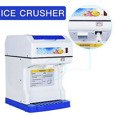 Tabletop Electric Shaved Ice Snow Cones Maker Ice Shaver Machine Ice Crusher