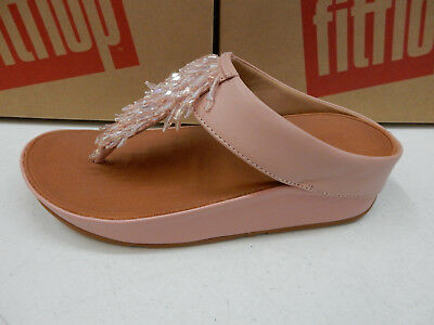 f3d47231c36 FITFLOP WOMENS SANDALS Rumba Toe Thong Dusky Pink Size 6 -  110.00 ...