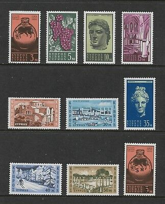 CYPRUS 1962 issue + 1966 surcharge, mint MH