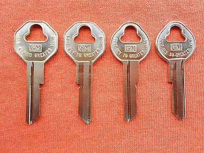 4 Vintage Gm Chevy Buick Pontiac Olds Cadillac Key Blanks 1935 - 1966