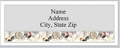 Personalized Address Labels Primitive Country Chickens Buy 3 get 1 free (P 362)