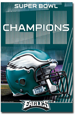 "Super Bowl LII Champions Philadelphia Eagles Helmet Fridge Magnet 2.5"" x 3.8"""