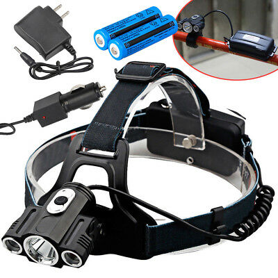 35000LM Bike Front light T6 Led Power Headlamp headlight 18650 Battery+Charger