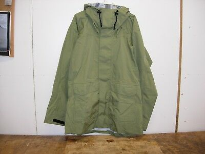 waterproof coat, lightweight breathable fabric - olive - large