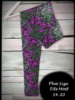 Purple Serenity Plus Size Amazing Buttery Soft Leggings