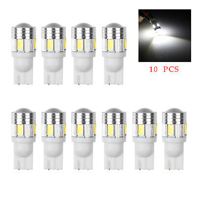 10X Canbus T10 194 168 W5W 5630 6LED SMD White Car Side Wedge Light Lamp Bulb CA
