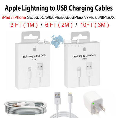 OEM ORIGINAL iPhone/iPad Lightning USB Charger Cable 3FT/6FT/10FT FAST SHIP lot