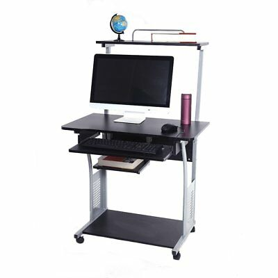 Computer Desk W Printer Shelf Stand Rolling Laptop Home Office Study Table