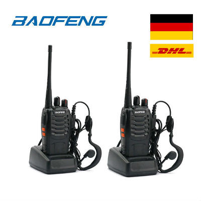 Baofeng BF-888S + orig. Headset UHF CTCSS/CDCSS Hand-Funkgerät Walkie Talkie