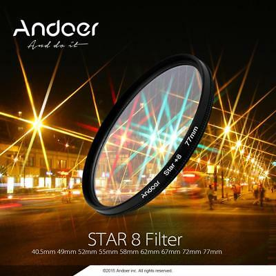 Andoer 58 mm UV+CPL+Close-up+4+Star 8-punto filtro polarizador circular kit Z1K2