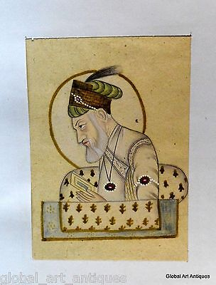 Rare Hand Painted Fine Decorative Collectible Indian Miniature Painting. G77-29