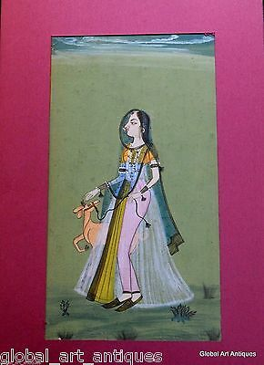 Rare Hand Painted Fine Decorative Collectible Indian Miniature Painting. G77-33