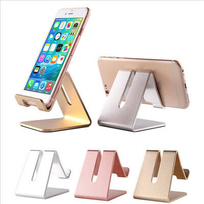 Universal Cell Phone Desk Aluminum Alloy Stand Holder For Mobile Phone Tablet PC