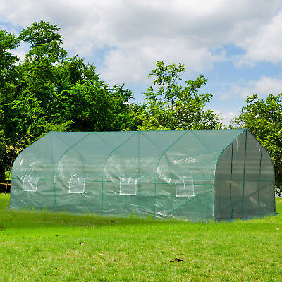 20x10x7ft Gardening Hot House Walk-in Tunnel Greenhouse Heavy Duty