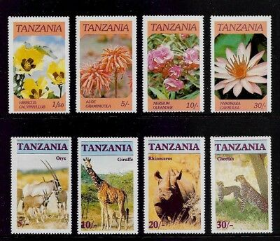 TANZANIA 1986 Flowers & Endangered Animals, mint sets, MNH MUH