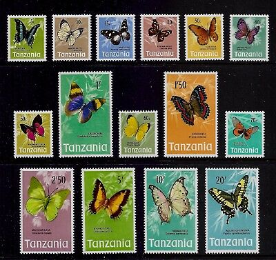 TANZANIA 1973 Butterflies, mint set of 15, MNH MUH