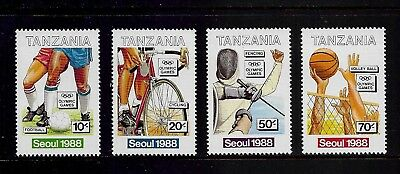 TANZANIA 1988 Olympic Games, Seoul, mint set of 4, MNH MUH