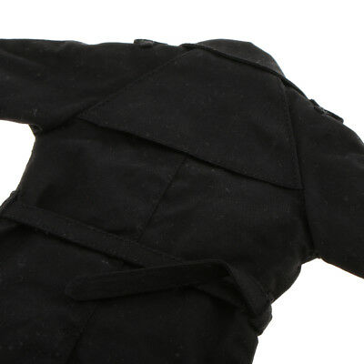 12'' Action Figure Windcoat 1/6 Scale Black Trench Coat Jacket for HotToys