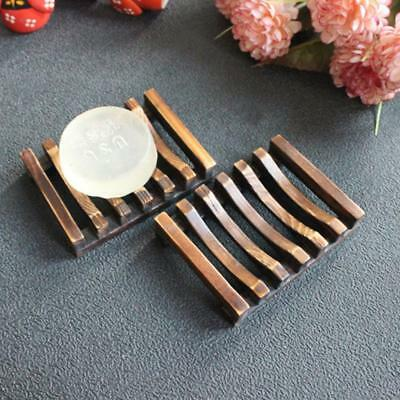 Natural Wood Wooden Soap Dish Storage Tray Holder Bath Shower Plate Bathroom