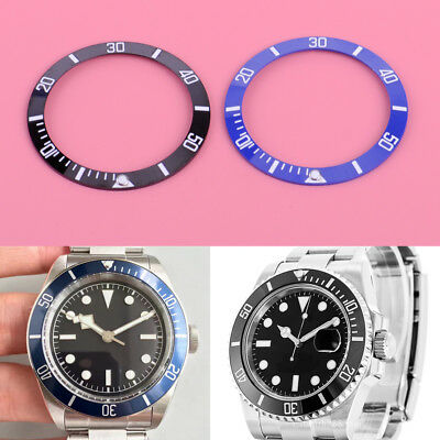 38mm Spring Ceramic Bezel Ring Insert For 40mm GMT Watch Changeable Black/Blue