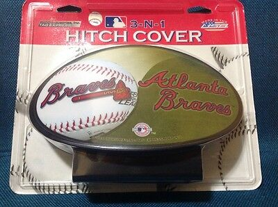 New Hitch Cover 3 In 1 Baseball Trailer  Hitch Atlanta Braves Made In Usa