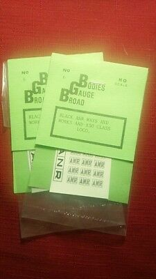 ANR in boxes black decals 4 packs only. For 830 or ways and works vehicles. HO