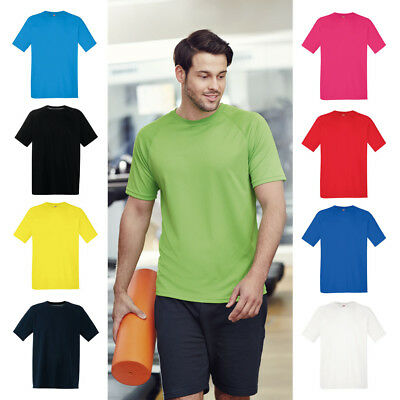 befcd5c7c Mens Quick Dry Running Gym Performance Sports T Shirt | 9 COLOURS | S - 2XL