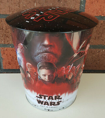 STAR WARS 2017 HOYTS The Last Jedi Popcorn Tin with Lid - FREE SHIPPING