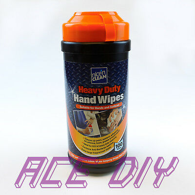 Heavy Duty Anti-Bacterial Extra Large Hand & Surface Wipes for Oil Grease Dirt