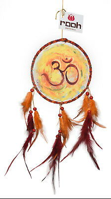 Rooh dream catcher canvas om painting Handmade Hangings for Positivity