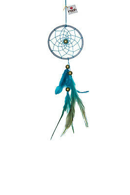 Rooh dream catcher white and blue weave Handmade Hangings for Positivity