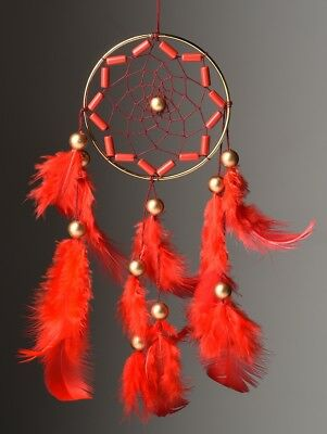 Rooh dream catcher Crafty Red Car Hanging Handmade Hangings for Positivity