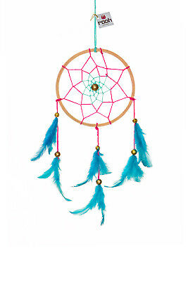 Rooh dream catcher  wooden threads pink Handmade Hangings for Positivity
