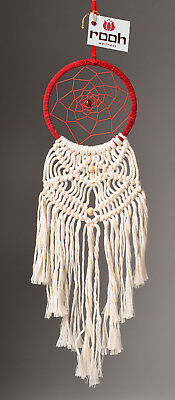 Rooh dream catcher red and white woven