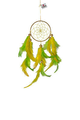 Rooh dream catcher green and yellow hanging Handmade Hangings for Positivity