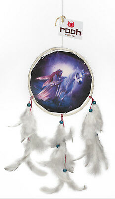 Rooh dream catcher  canvas angel and unicorn Handmade Hangings for Positivity