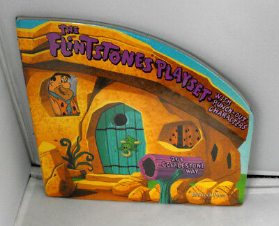 RARE HANNA BARBERA  The Flintstones Playset with punch-out characters 1994 MINT