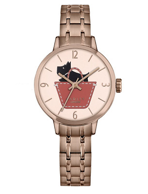 Radley Ladies Border Link Rose Gold Plated Watch RY4242 - RRP £135 - Brand New