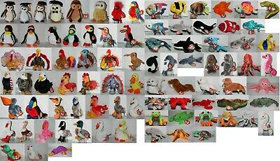 #08 Ty Beanie Baby Beanies (Stuffed Toy) Select: Fish Seal Water Creature Bird