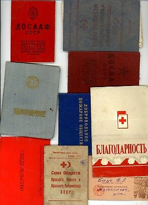 9 Soviet Russian Document  .USSR