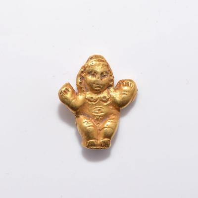 An Egyptian Gold Amulet of Baubo, Roman Period, ca 1st century AD