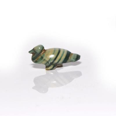 * An Egyptian Glass Duck Amulet, Late Period, ca. 664 -332 BC
