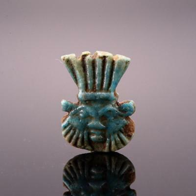 * An Egyptian Faience Amulet of the God Bes, Late Period, ca. 700-332 B.C.